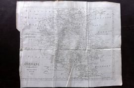 Lyttleton 1811 Antique Map. Germany Exhibiting the Present Seat of the War 1805